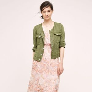 Anthropologie Sanctuary Utility Green Jacket